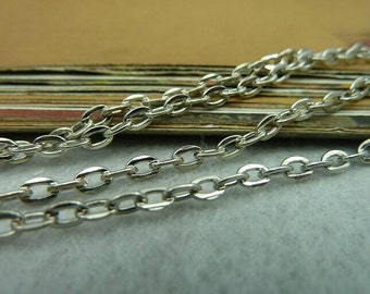 32 Feet 3x4mm White  BronzePlated Brass Twisted Cross Chains E1030