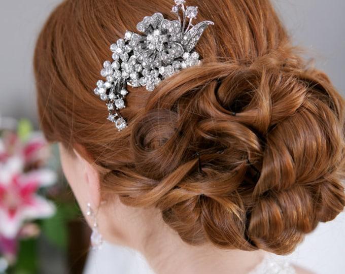 Crystal Hair Comb, Rhinestone Bridal Hair comb Vintage Hair Brooch Wedding Jewel Comb Classic Wedding Hair Accessories - Quick Shipper