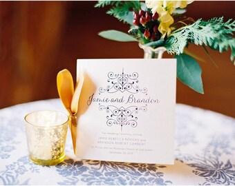 Wedding Programs or Welcome Books, Wedding Ceremony, Preppy, Monogram, Nautical, Classic, ribbon Wedding Program, ceremony program