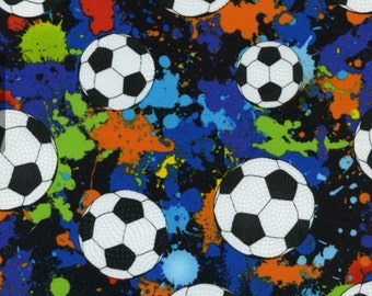 Soccer cotton fabric from Timeless Treasures fabric SPORT -C1092