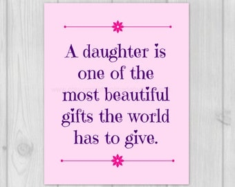 New Daddy Gift, Baby Girl Decor, Father Print, Dad Quote, 8x10 Art Print, Baby Girl Nursery, Fathers Day Quote