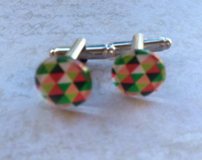 Men's Cufflinks, Multicolor Cufflinks, Men's Accessories, Cufflinks For Men and Women, Unisex Cufflink