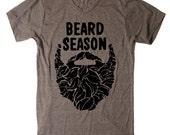 Mens Beard Season Funny T Shirt tee - American Apparel Tshirt - XS S M L XL 2XL (15 Color Options)