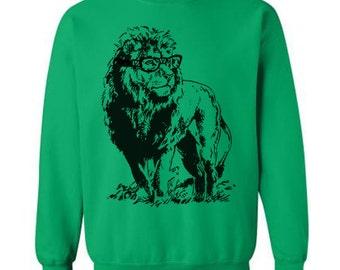 Lion Professor Sweater Flex Fleece Pullover Classic Sweatshirt - S M L Xl and Xxl (Color Options)
