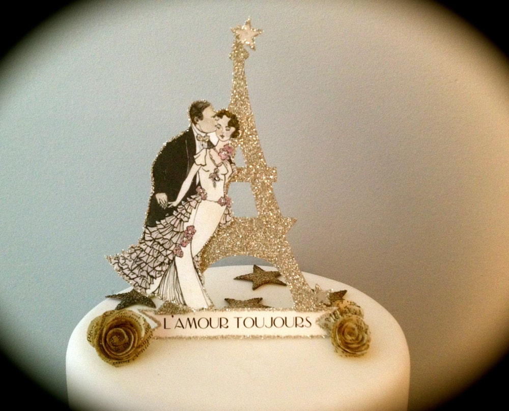 paris wedding cake topper eiffel tower cake topper cake topper wedding 18118