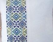 "Tribal Designer Fabric 20"" Throw Pillow Cover"