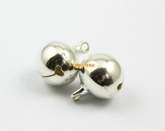 30Pcs 16mm Silver Bell Big Jingle Bell Charm Bead (YSLD16)