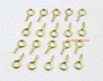 500Pcs 5x11mm Eye Screw Gold Screw Eye Pins (JS-YY3)