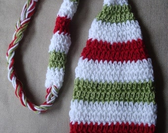 Christmas Baby Long Tail Elf Hat