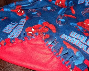 Fleece Blanket - Spiderman Knot Fleece Blanket