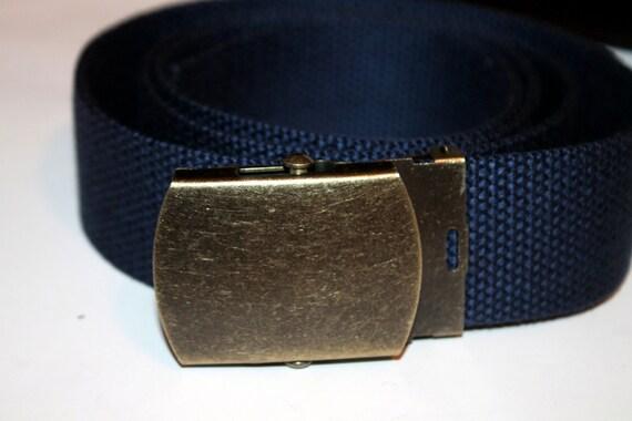 wide navy webbing belt buckle 1 5 quot wide