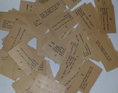 10 Uncle Wiggily game cards pieces lot Old ephemera word phrase cards mixed media art scrap projects Vintage paper supplies