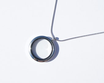 Floating Locket Necklace Pendant - Living Memory Charm Necklace