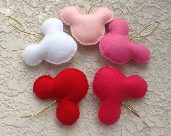 VALENTINE/Mickey Mouse Sweet felt ornament set of 5/gift/only for girls