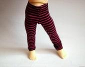 YoSD Littlefee Teenie Gem Magenta And Black Striped Leggings For BJD