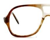 Vintage Mens Brown Gradient Aviator Eyeglass Capri Co Frames Eyewear New Old Stock- S09144