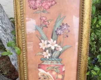 Vintage Framed Pamela Gladding Art, Pavan IV, Artwork, Tuscan Art