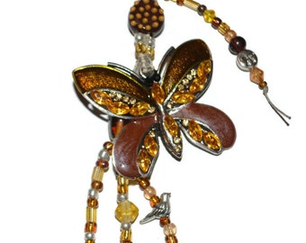 Butterfly Beaded KeyChain or Purse Jewelry