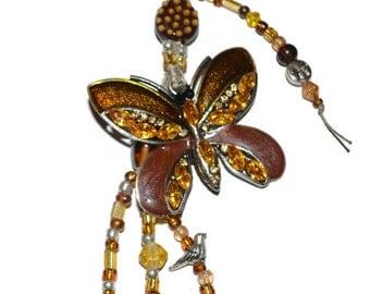 Butterfly Beaded KeyChain or Purse Jewelry
