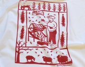 Flour Sack Dish Towel - Chile Roaster: Red or Green