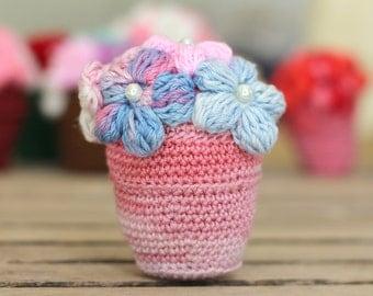 Crocheted flower Pot Pattern, PDF, Tutorial,