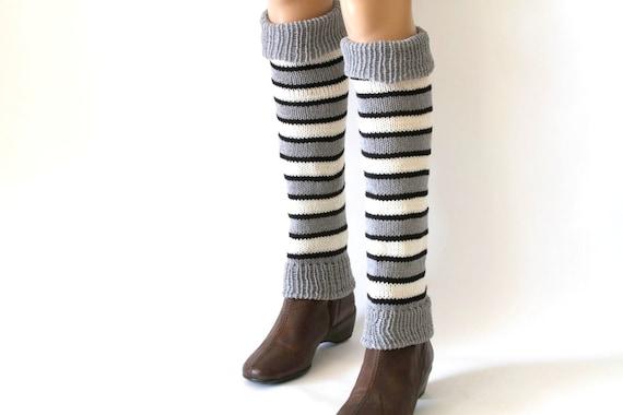 Leg Warmer Knitting Tutorial Toeless Socks PDF Pattern by etty2504