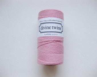 Full Spool - Solid LIGHT PINK DIVINE Twine - Pink Bakers Twine (240 yards)