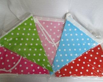 Banner Bunting Polka Dot Banner Polka Dots Bunting Birthday Banner Baby Shower Banner Polka Dotted Banner Bridal Shower Banner