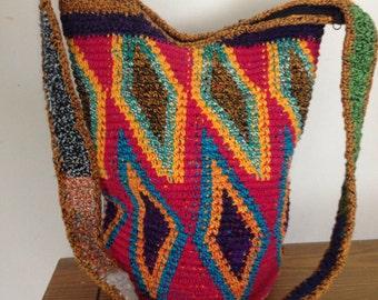 Handwoven Carpet Kilim Shoulder Handbag