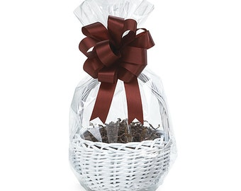 """14""""x24"""" Round Bottom Crystal Clear GIFT BASKET BAGS Cello Drop-in (You Choose Qty!)"""