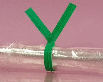 """Your Choice of Quantity 4"""" Plain GREEN Paper TWIST TIES Bag Wire Metal Tie"""