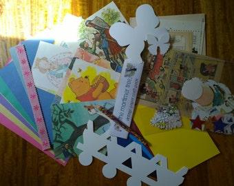 Children's  Art & Craft Vintage Paper Pack (Party Bag)
