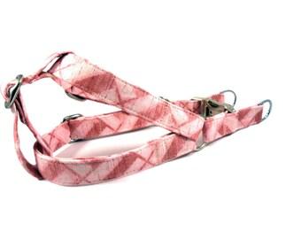 Dog Harness, GEOMETRIC PINK, Girl Dog Harness, Dog Step in Harness, Step in Dog Harness, Handmade Dog Harness