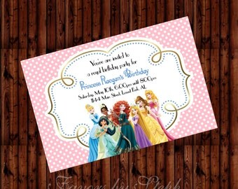 DIGITAL Princess Invitations - 2 Designs