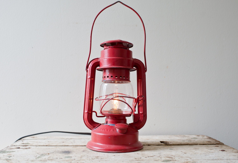 Vintage Red Lantern Light Small Vintage Lantern Light