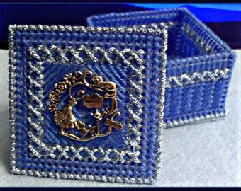 Alice In Wonderland Blue Trinket Box