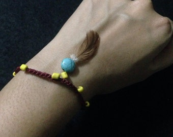 Feather Bracelet/Accessories/ Boho /Colorful