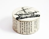 Narnia Dawn Treader Ship - Decorative Box - Trinket Box - Small Box - Literary Gift - Decoupaged and Lacquered