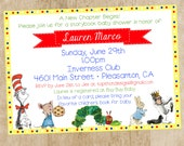 Children's Book Themed Baby Shower Invitation- Collection Featured on HWTM Blog
