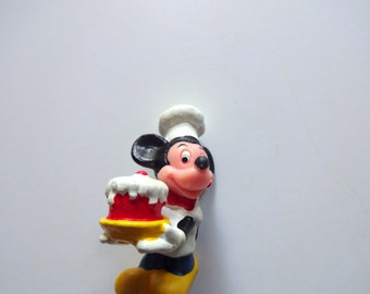 Vintage Mickey Mouse Miniature PVC Toy 1980s