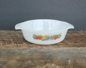 Vintage Nature's Bounty Fire King/Anchor Hocking 1 quart Casserole Dish