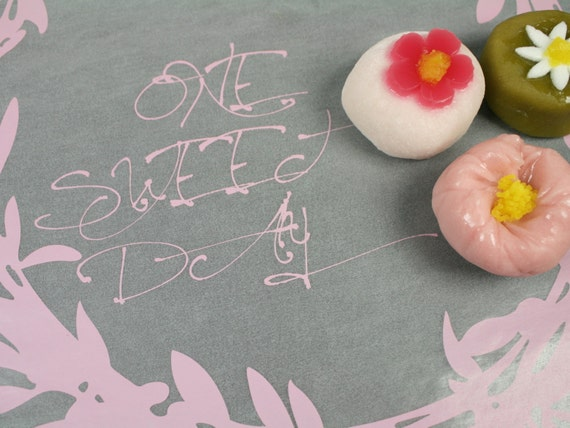 pink one sweet day handwriting print wax paper baking cookie. Black Bedroom Furniture Sets. Home Design Ideas