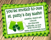 St. Patty's Day Bash Invitation Print Your Own