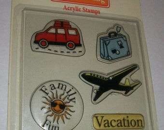Vacation Scrapbooking Acrylic Stamps