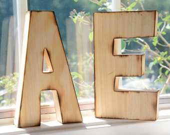 RusticLarge wood letters for wedding bride and groom set of 2 letters