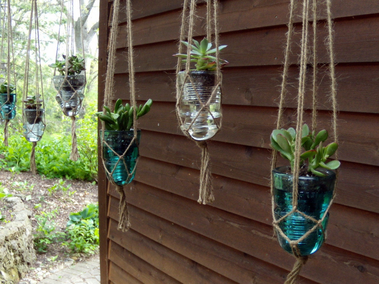 Hanging Succulent Planter Upcycled From By OpticalConclusions