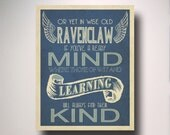 Ravenclaw House Art / Harry Potter Typography / Wall Art / Hogwarts Houses Collection