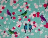 Kokka Fabrics -  Birds Turquoise (JG 95800 802B) - Etsuko Furuya Echino collection - 1/2 yard