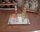 Lovely vanity mirror tray , Art Deco style