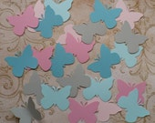 50 Butterfly Pcs Asst Dreamy Colors Cardstock 4 Weddings Crafts Baby Mobiles Cupcake Picks Toppers Wall Hang Photo Shoot Prop DIY Baby